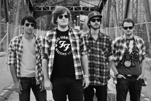De gauche à droite : Cédric, Valentin, Alban et Pierre