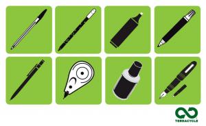 Collecte et recyclage des instruments d'écriture usagés