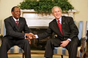 Blaise Campaoré et George Bush, 2008