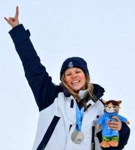 Lou Barin, médaillée d'argent en ski slopestyle