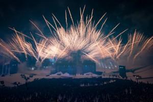 La cérémonie d'ouverture s'est achevée par un feu d'artifice annonçant les Jeux officiellement ouverts