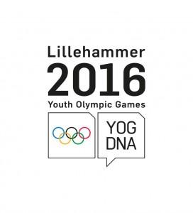 Le logo officiel des Jeux Olympiques de la Jeunesse (JOJ) d'hiver de 2016 à Lillehammer (Norvège)