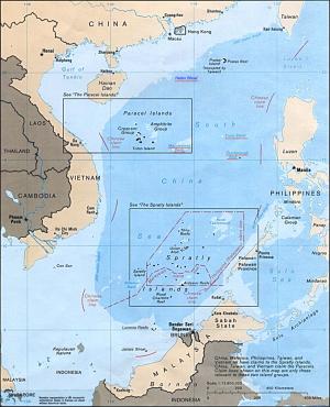 Mise en évidence des îles Spartleys et Paracel